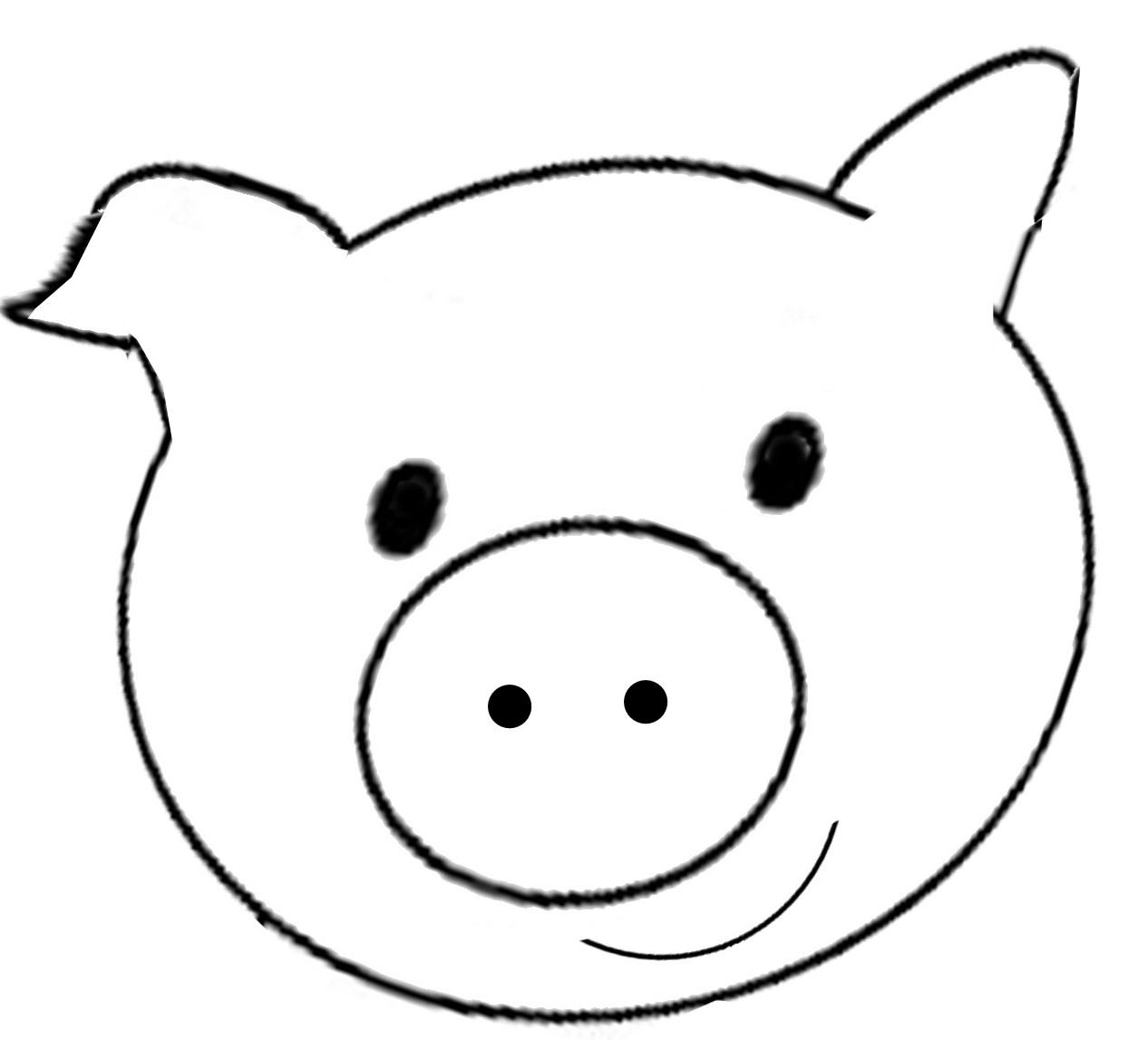 Pig face clip art 2