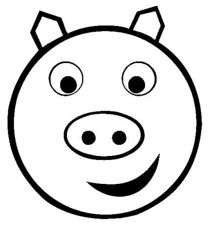 Pig face clip art 5