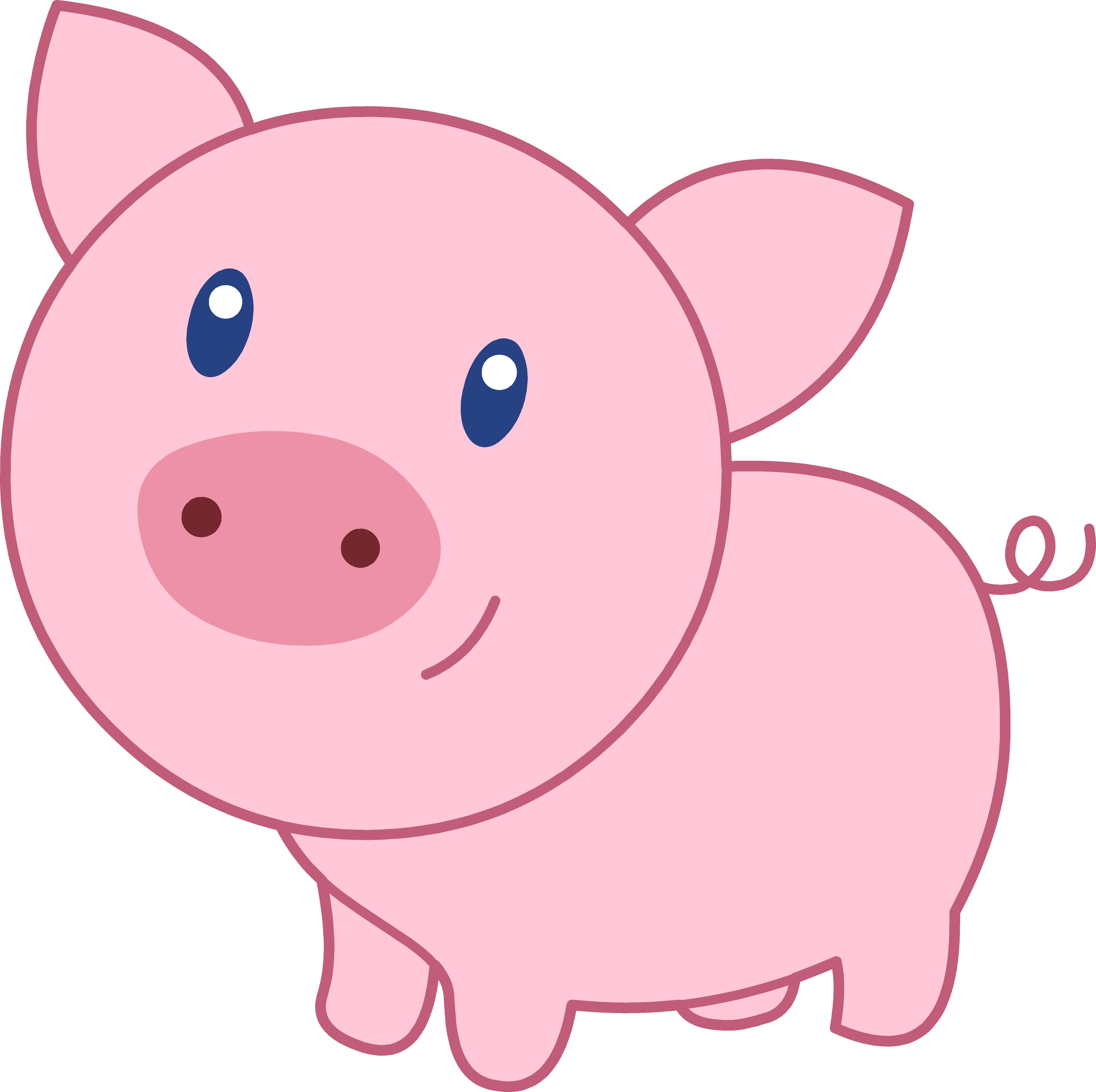 Pig face clip art 6