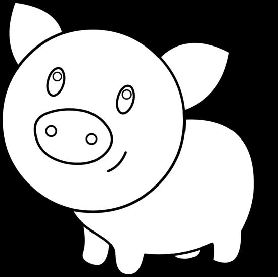 Pig face clip art 7