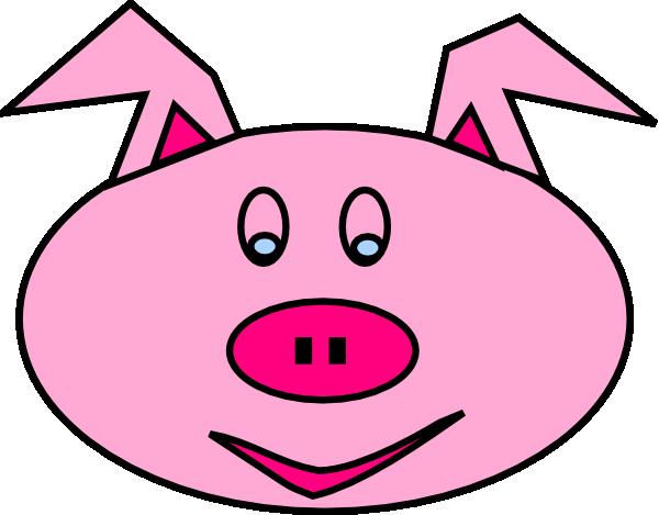 Pig face clip art at vector clip art