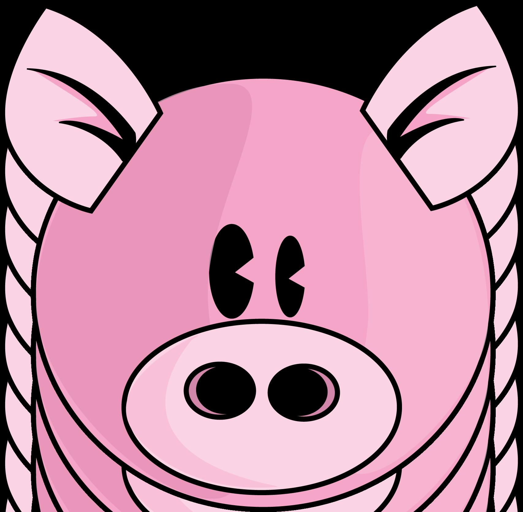 Pig face clip art