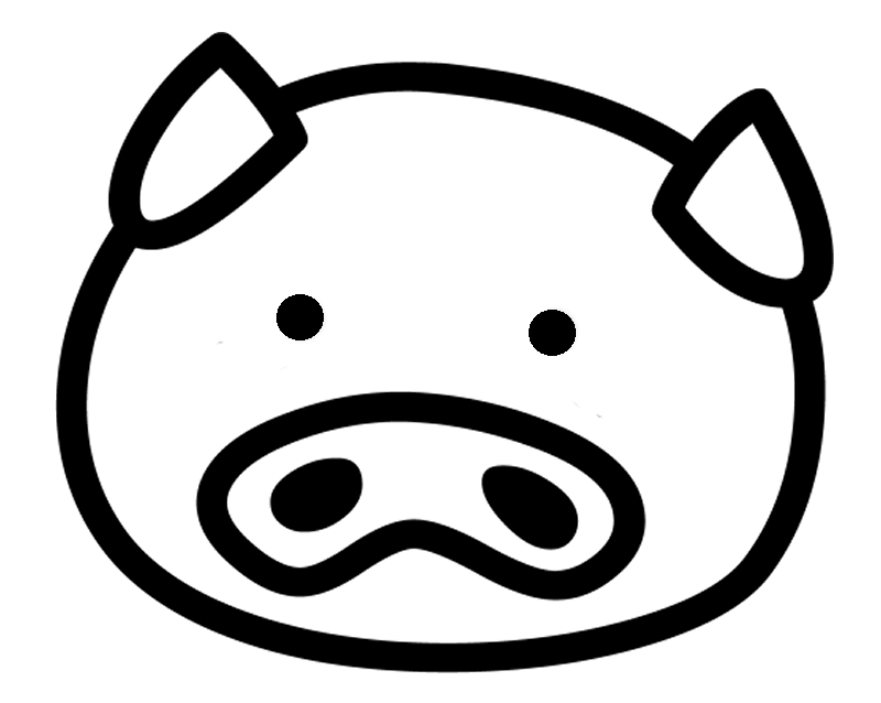 Pig face clipart clipart collection cute piggy bank