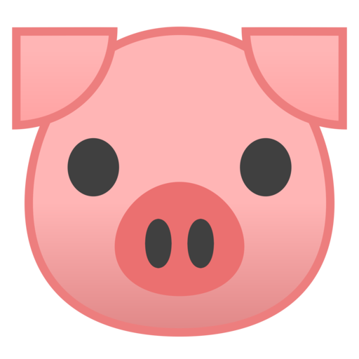 Pig face emoji clip art