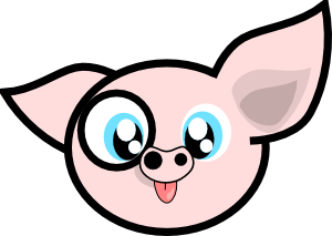 Pig face free pig clip art that really flies ibytemedia