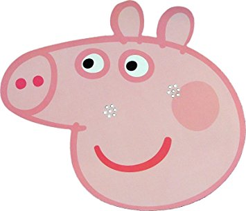 Pig face peppa pig card face mask by star cutouts ltd amazon clipart
