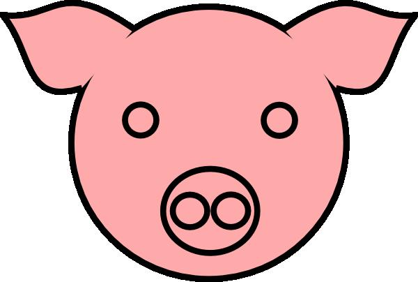 Pig face pig 9 clip art at vector clip art free