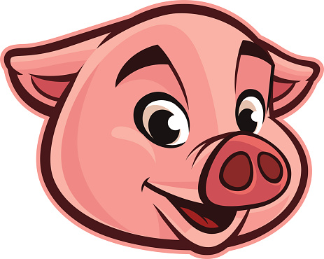 Pig face pig head clipart clipartxtras