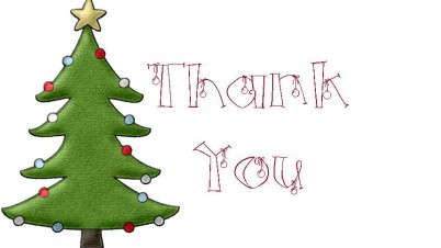 Printable christmas thank you card christmas cards clipart