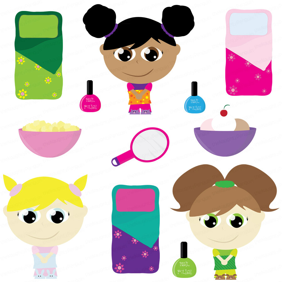 Slumber party clipart many interesting cliparts