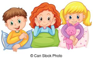 Slumber party pajama party clipart 5