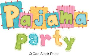Slumber party pajamas party clipart clipart collection pajama
