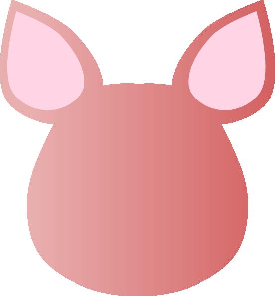 Totetude blank pig face clip art at vector clip art