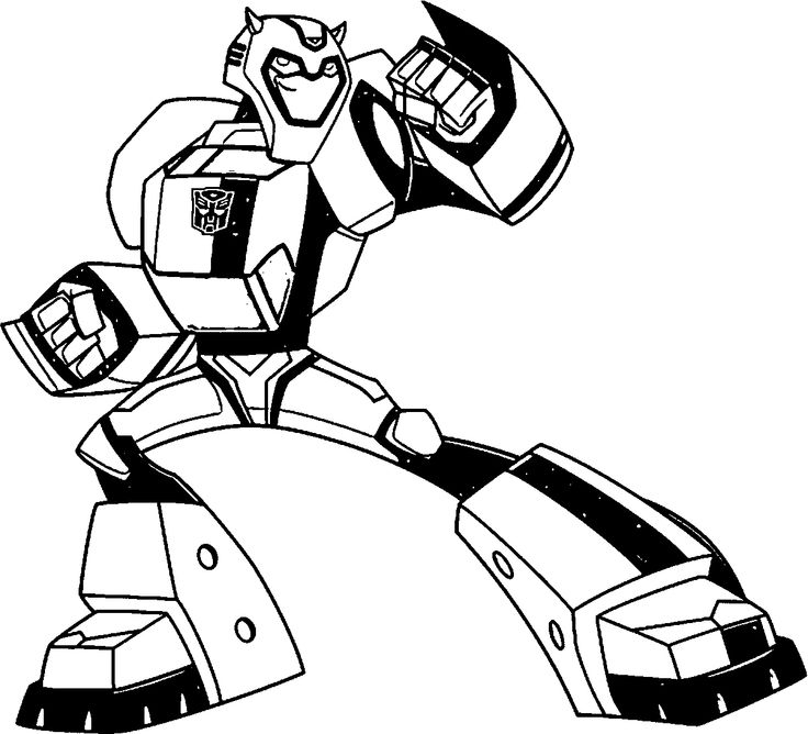 Transformers clipart black and white pencil in color