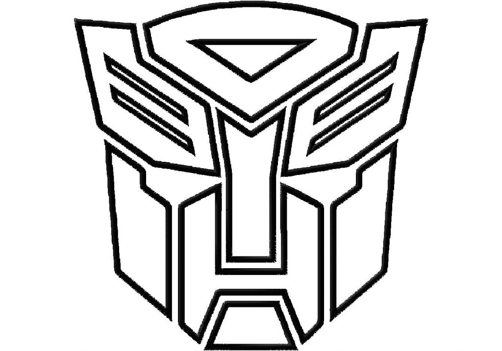 Transformers transformer logo and clip art coloring pages cartoon download