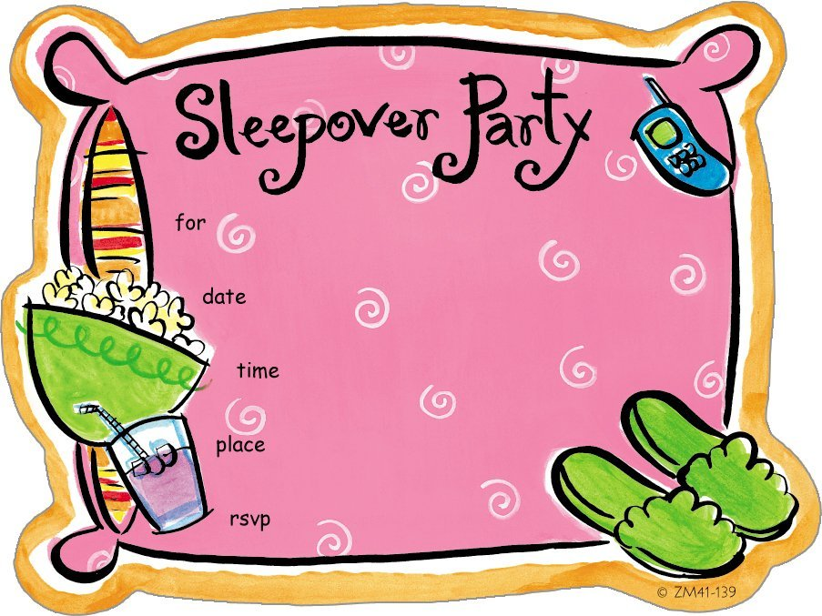 Zoomerang slumber party invite 8 ct free shipping clip art