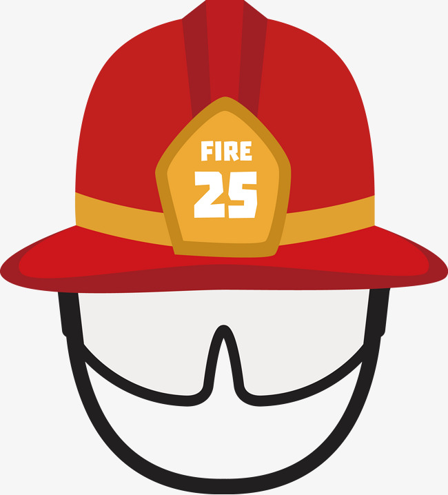 Cartoon fire hat fire cap safety hat and vector for free clipart