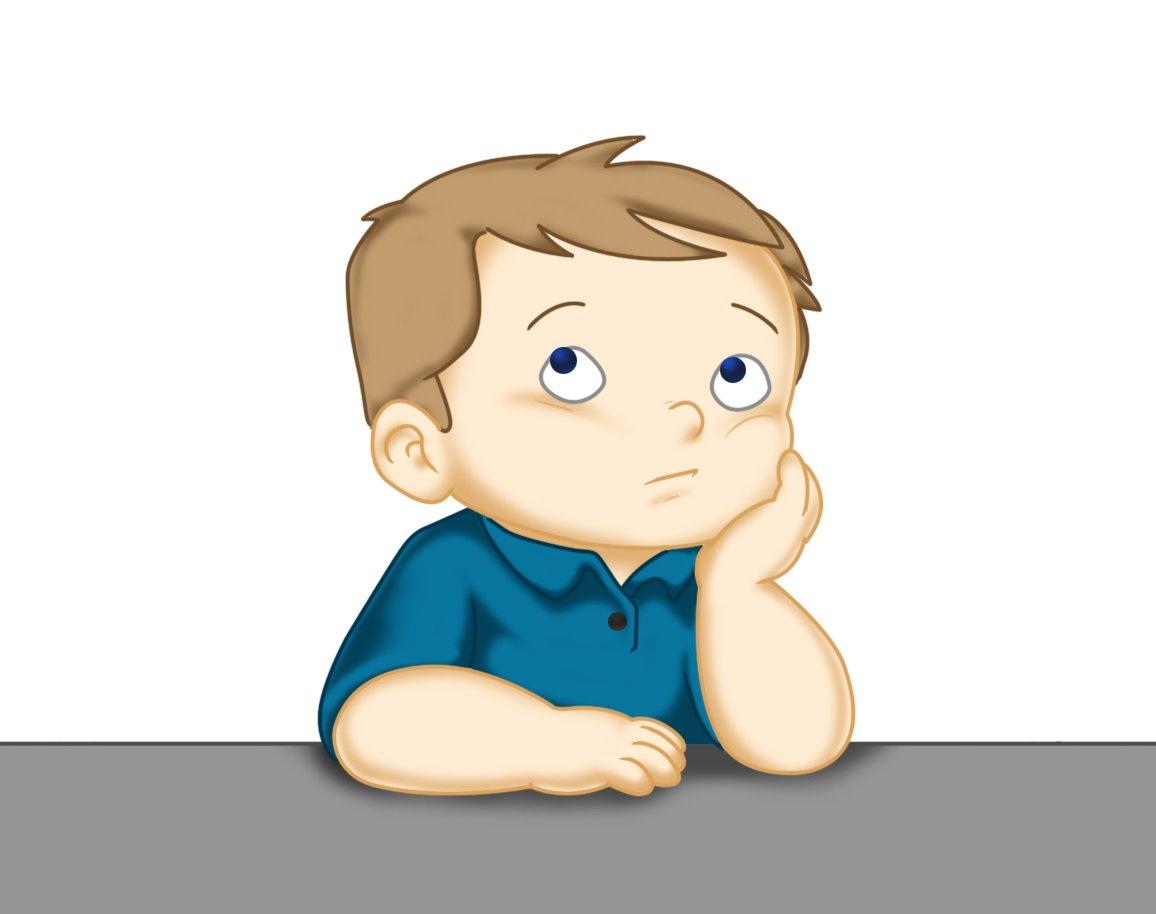 Child thinking clipart 11