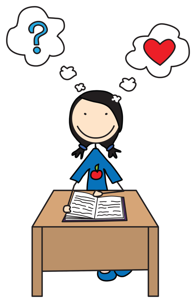 Child thinking clipart clipartbarn