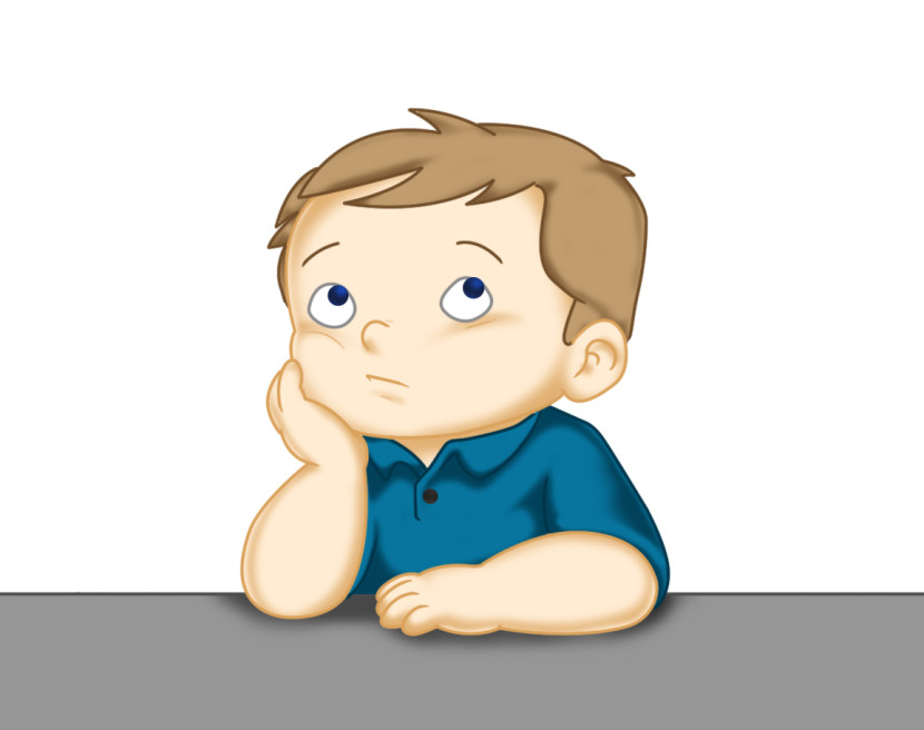 Child thinking clipart thinking kid clipground