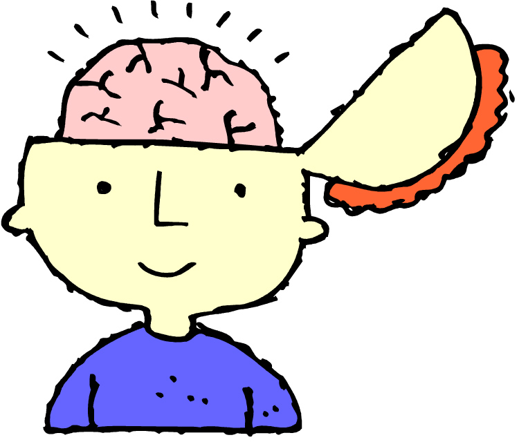 Child thinking thinking brain clipart for kids clipground