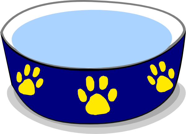 Dog bowl dog water bowl clip art at vector clip art