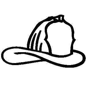 Fire hat clipart black and white letters example
