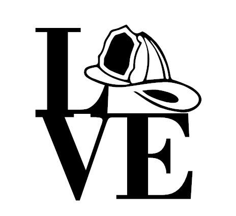 Fire hat firefighter black and white fire fighter hard hat clipart