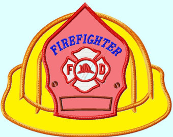 Fire hat firefighters hat clipart