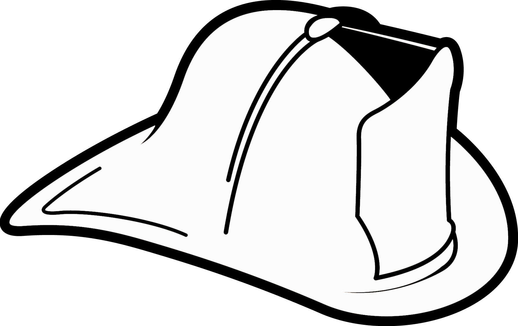 Fire hat fireman hat clipart black and white hd letters