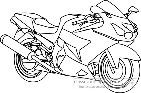 Motorcycle  black and white black and white cartoon motorcycles clipart