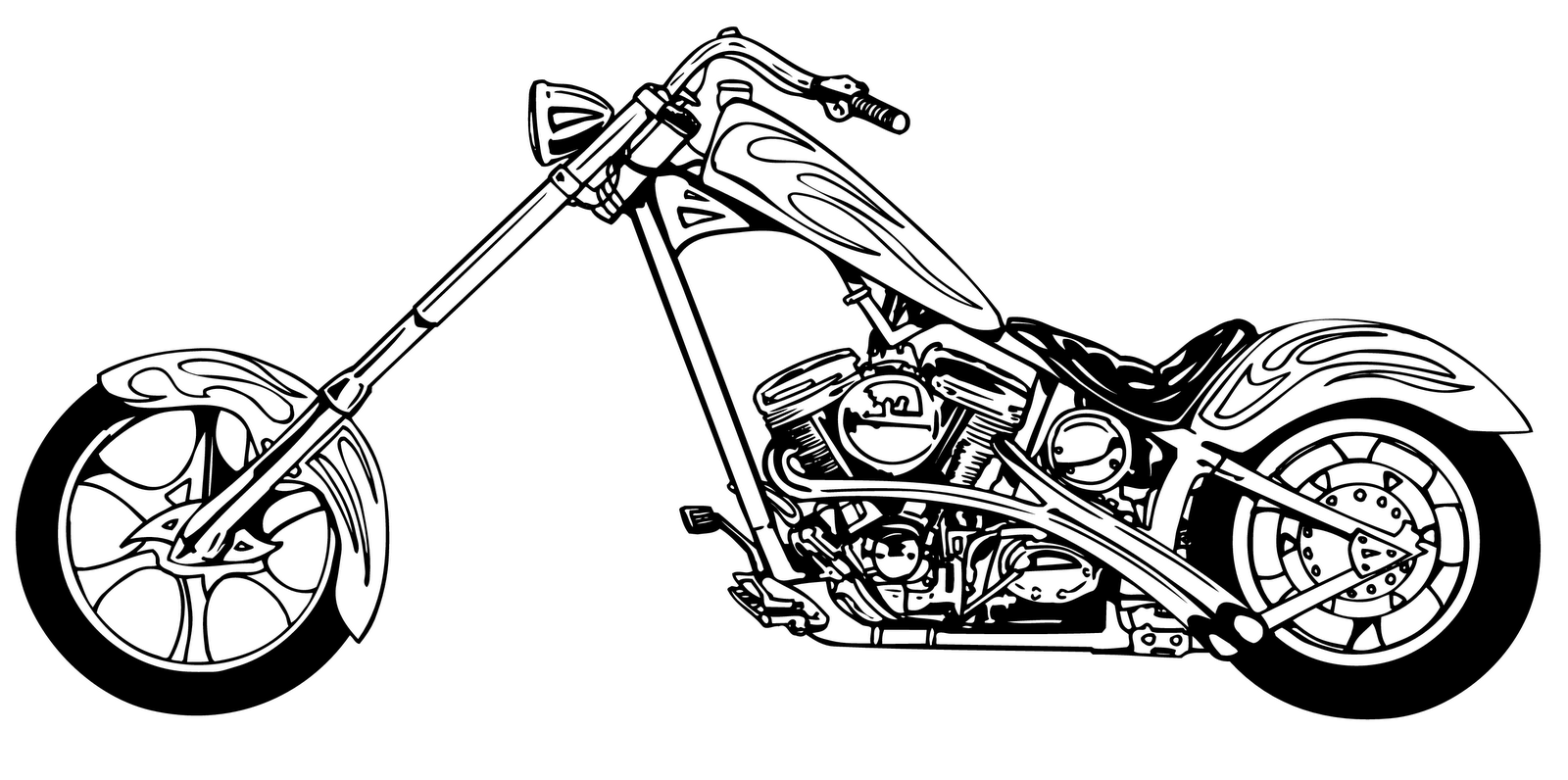 Motorcycle  black and white free motorcycle clipart clip art pictures graphics 2 clipartbarn