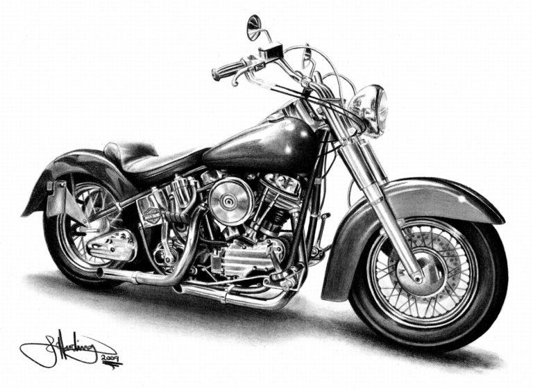 Harley Davidson Clip Art: Motorcycle Black And White Harley Davidson Motorcycle