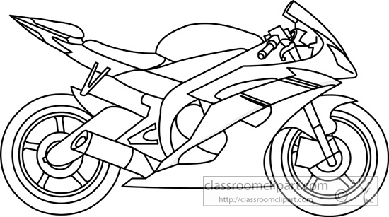 Motorcycle  black and white motorcycle clipart outline pencil and in color motorcycle