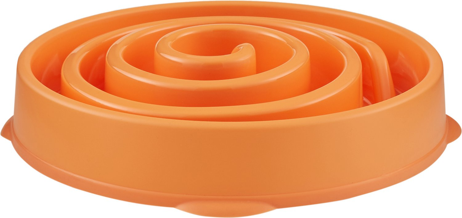 Outward hound fun feeder interactive dog bowl orange regular clipart