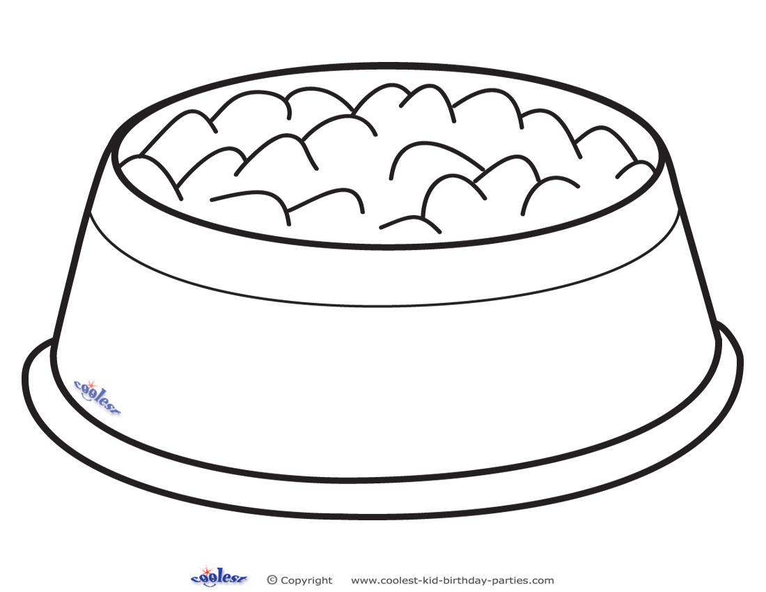 Printable dog bowl decoration clipart